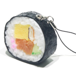 巻き寿司のストラップ