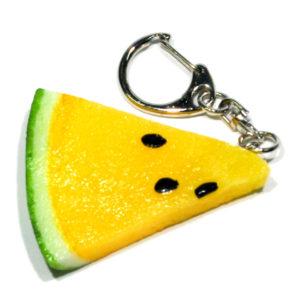 黄スイカのキーホルダー