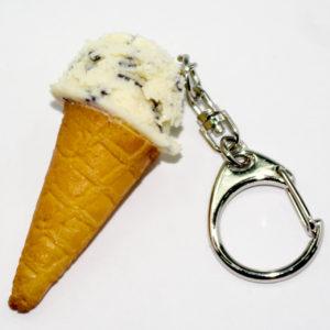 アイスクリーム(チョコチップ)のキーホルダー