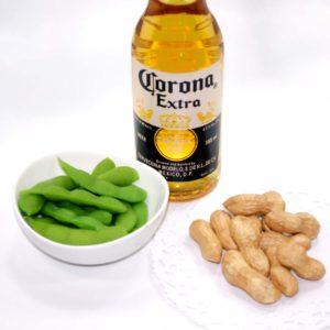 ビールのお供に枝豆と落花生