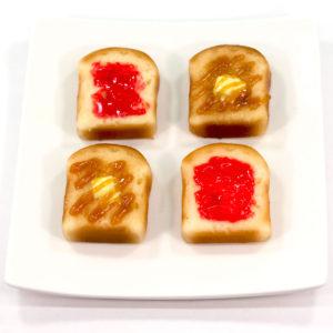 トーストの食品サンプル