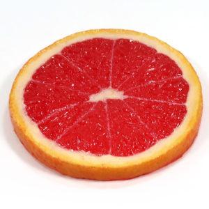 グレープフルーツ(ルビー)のフルーツコースターSサイズ