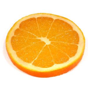 オレンジのフルーツコースターSサイズ