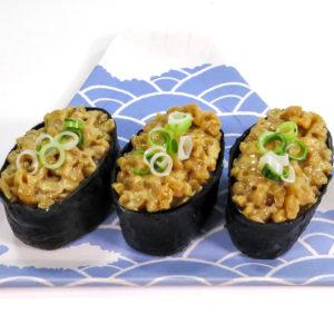 納豆軍艦寿司の食品サンプル