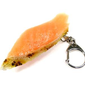 炙りサーモンにぎり寿司のキーホルダー