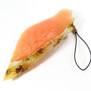 炙りサーモンにぎり寿司のストラップ