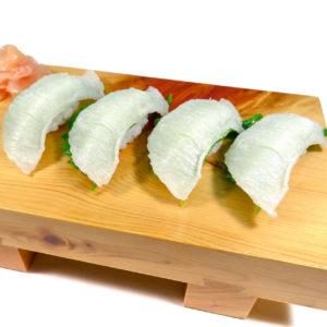 えんがわにぎり寿司の食品サンプル