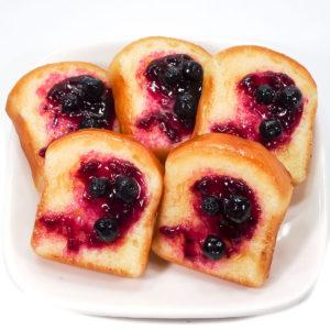 トースト(ブルーベリー)の食品サンプル
