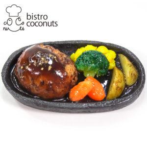 鉄板ハンバーグの食品サンプル