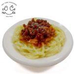 ミートスパゲティの食品サンプル