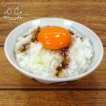 玉子かけご飯の食品サンプル