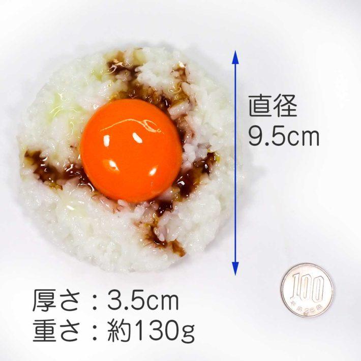 直径 9.5cm× 高さ3.5cm、重さ約130g