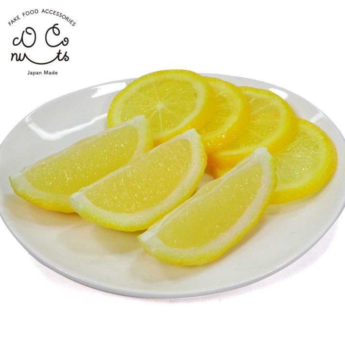 食べちゃいそうなレモンくし切りとレモンスライス
