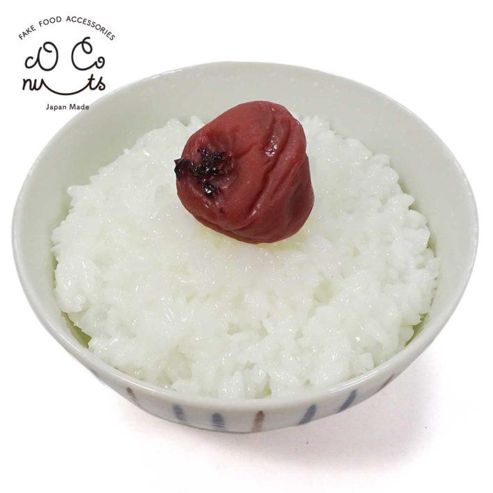 梅干しとご飯の食品サンプル