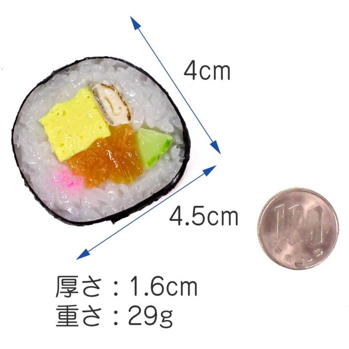 大きさ 4.5cm×4cm×1.6cm、重さ 29g